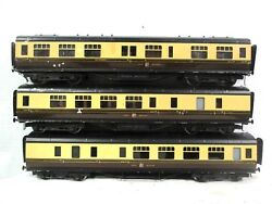 Exley S 9333 2333 And 2211 Great Western Passenger Cars Model Rail Trains B44-29