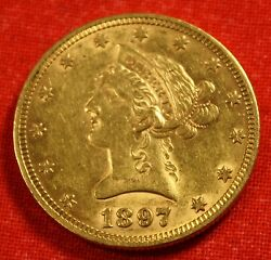 1897 LIBERTY HEAD $10 GOLD EAGLE GREAT COLLECTOR COIN GIFT