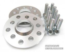 Wheel Spacers Shims Perfect Fit 2x 15mm 5x120 + 10 Cone Bolts M12x15 39mm