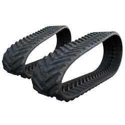 Pair Of Prowler Rubber Tracks For John Deere 333d Snow And Mud - 450x86x56