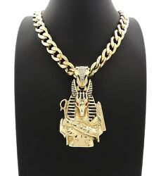 New Anubis Pendant With 11mm 20 Cuban Chain