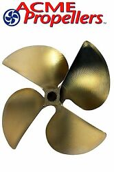 Acme 13.5 X 16 Inboard Propeller Right Hand Nibral Cupped Splined Bore 4 Blade