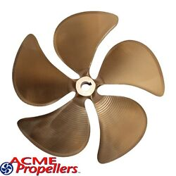 Acme 14.5 X 15.5 Inboard Propeller Left Hand Nibral Cupped 1 1/8 Bore 5 Blade