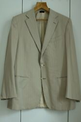 New Couture Wool Silk Handmade In Italy Suit It54