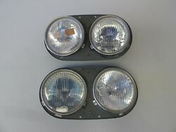 Volkswagen Classic Double Headlight Pair Hella 411.941.045a And 411.941.046a