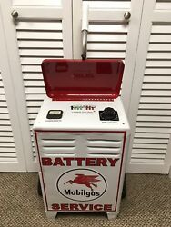 Mobil Gas Battery Charger Vintage Mobil One Automotive Equipment Tester Tool