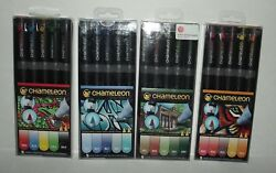 8 Packs Of Chameleon Color Tones Double Ended Pens (5 in each pack)