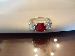 -329-beautiful 3-stones- Sterling Silver Ring-size-7--925