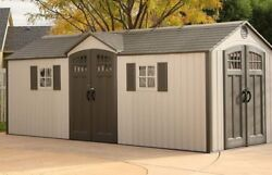 Large Shed 20x8 Feet home outdooryardgarden storageshed design with 2 doors