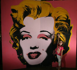 Marilyn Munro 10and039x10and039 Hand Painted Poster Andy Warhol Copy/inspired