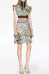 Gucci Flora Snake Silk Dress- With Tags- RRP$2130