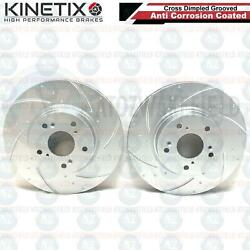 For Integra 2.0 DC5 Type R front grooved kinetix brake discs fits brembo caliper