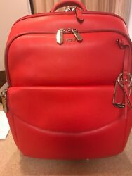 New Tumi Women's Stanton Hettie Leather LaptopBackpack - Hot  Red $545