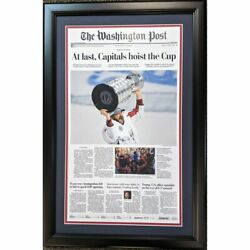 Framed Washington Post At Last Capitals 2018 Stanley Cup Newspaper 17x27 Photo