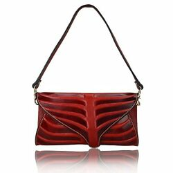 Woman Purse Clutch Leaf Design Leather Crossbody Leather Bag For Girls Women Red