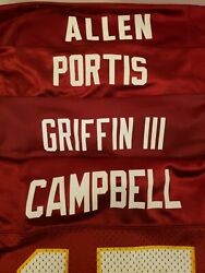 Portis Griffin Campbell Allen Washington Redskins Jersey Lot Of 4 Youth Large