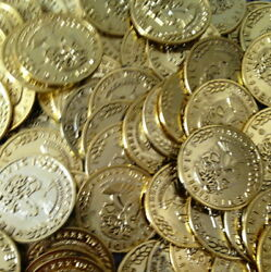 7200 Plastic Pirate Gold Play Toy Coins Birthday Party Favors Pinata Money Coin