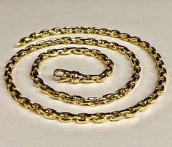 10kt Solid Yellow Gold Handmade Rolo Link Chain/necklace 18 45 Grams 5.2mm