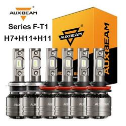 AUXBEAM T1 MINI H7+H11+H11 LED Headlight Canbus Bulbs Temperature Control 6500K