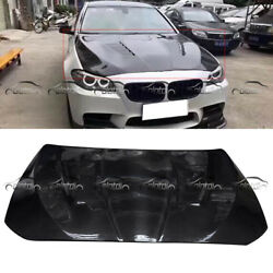 H1 Style For BMW 5 Series Carbon Fibre Hood Bonnet Fit F10 F11 M5 Sedan