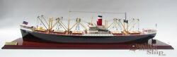 Waterline Ss American Scout C2 Cargo Ship Handmade Wooden Ship Model Scale 1175