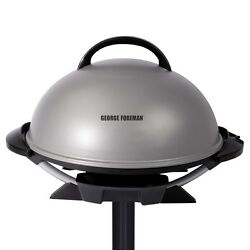 Silver 15.5-in L x 15.5-in W Non-Stick Contact Indoor Grill with Removable Stand