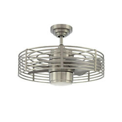 Filament Design Cassiopeia 23 In Indoor Ceiling Fan 5 Blade 1 Light Satin Nickel