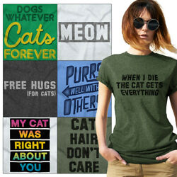 Cat Before Dudes Funny Kitten Crazy Lady Gift Womens Short Sleeve Crewneck Tee