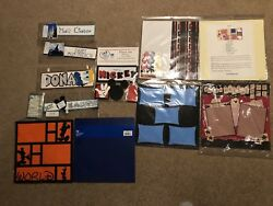 Disney Scrapbook Lot with Hand Designed Pre-Made Pages and Stickers
