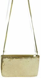 Whiting And Davis Vintage Gold Metal Mesh Evening Bag Clutch Purse
