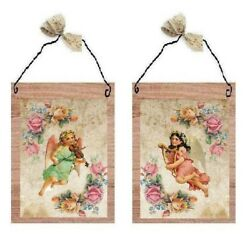 Victorian Angel Pictures Roses Paris Music Players Angels Wall Hangings Plaques