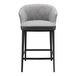 21.5 W Counter Stool Molded Pvc Seat Frame Solid Steel Base Foam Seat