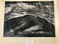Stanley Huber Wood Threatening Sky Fine Art Collectible Antique Lithograph
