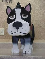 💗 Boston Terrier Mailbox Custom Terriers Dogs Mailboxes Postal Mail Box Animal