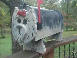 💗 York Terrier Dog Mailbox Yorkie Custom Mailboxes Postal Mail Box Animal Dogs