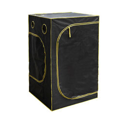 Hydroponic Water-Resistant Grow Tent with Removable Floor Tray 120*120*200 Black
