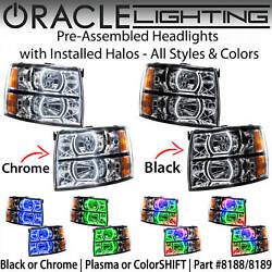 Oracle Pre-assembled Square Halo Headlights For 07-13 Chevy Silverado All Colors