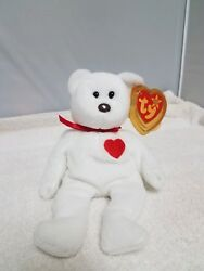 Extremely Rare Valentino 93/94 Ty Beanie Baby With Errors Origiinal Suface Pvc