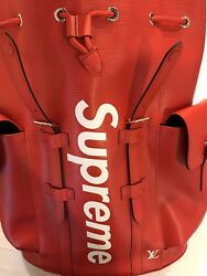 LOUIS VUITTON SUPREME CHRISTOPHER EPI RED BACKPACK PM RARE BRAND NEW WITH TAGS