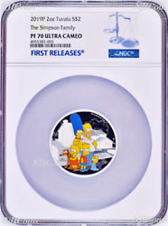 2019 The Simpson Family Proof 2 2oz Silver Coin Ngc Pf 70 Fr