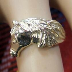 9ct GOLD new horses head ring