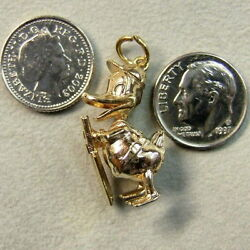9 Ct Gold Second Hand Solid Heavy Donald Duck Charm