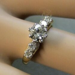 18 Ct Gold Second Hand Diamond Cluster Ring