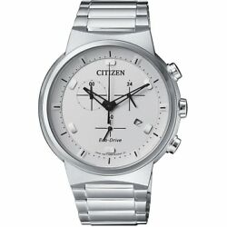 Citizen Eco-drive Menand039s Chronograph Silver-tone 41mm Watch At2400-81a