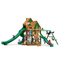 Decay Resistant Pre-Cut Great Skye II Treehouse Swing Playset with Timber Shield