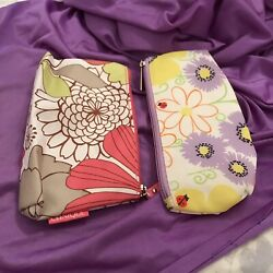 A Lot of 2 Clinique Cosmetic Floral Bags $15.00