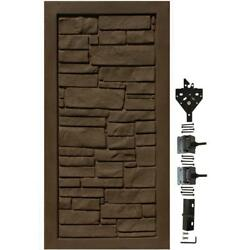 Dark Brown EcoStone 3 ft. W x 6 ft. H UV Protected Composite Privacy Fence Gate