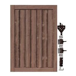 UV Protected Ashland Red Cedar 4 ft. W x 6 ft. H Composite Privacy Fence Gate