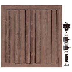 Ashland Red Cedar UV Protected 6 ft. W x 6 ft. H Composite Privacy Fence Gate