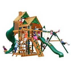 Cedar 13-ft H Great Skye I with Timber Shield 800-lb Load Capacity Playset